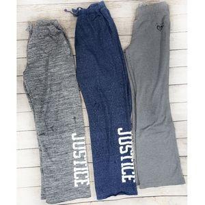 Justice Set of 3 Girls Sweatpants